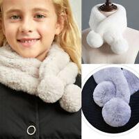 Winter Women Rabbit Fur Neck Loop Scarf Ring Scarves Lovely Girl's Cowl Snood
