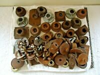 Mixed Lot Of Over 20 Lbs.Of Lawn Mower / Small Engine Blade Adapters,Spacers,etc