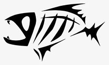 "Skeleton Fish Vinyl Decal ""Sticker"" For Car or Truck Windows, Laptops, etc"