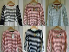 BNWT JOULES HARBOUR LADIES EMBROIDERY JERSEY LONG SLEEVES TOP UK8 10 12 14 16 18
