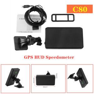 5V Universal Motorcycle Car Digital HUD GPS Speedometer MPH Over-Speed Warning