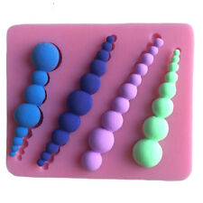 String Pearl Silicone Cake Candy Fondant Mold Cupcake Border Decor Baking Tools