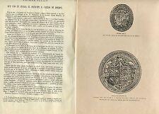 «Primer sello que usó en Italia el principe D. Carlos de Borbón»