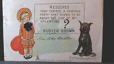 Vintage 1906 Valentine Post Card Buster Brown & Tige Rafael Tuck Rf Outcault