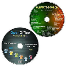 OpenOffice Premium Edition + Ultimate Boot-CD /Ersthilfe & Notfall-CD (Spar-Set)