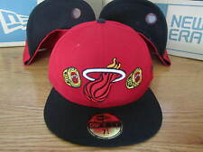 Miami Heat NBA New Era Hat Championship Rings Size 7 1/4 Brand New Red Black