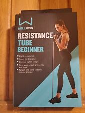 Health & Fitness Heavy Resistance Band Tube Light 4 Toning & Muscle Build PINK!