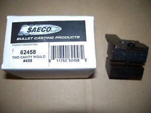 "Saeco #458 pistol bullet mould (mold), 45 cal, .452"" dia., 255 grain SWC"