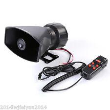 Car SUV Van 60W Police Air Horn PA 5 Tone Siren 300db Super Loud Speaker System