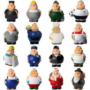 Anti-Stressball - Bert - Figurenform mit Kugelbauch - Knautsch Ball - Squeezies
