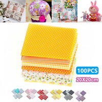 50/100pc Square Fabric Bundle Cotton Patchwork Sewing Quilting Tissues Cloth DIY