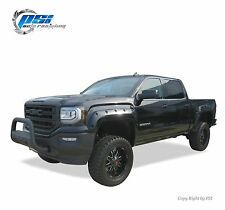 BLACK PAINTABLE Pocket Rivet Bolt Fender Flares 16-18 GMC Sierra 1500 FULL SET