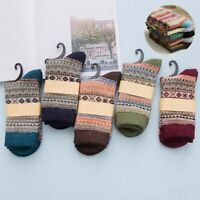 Socks Sports Indoor Warm Womens Soft Casual Lot Thick Sock 5 Pairs Winter