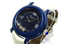 Auth Chopard Happy Star 27/7778 Navy Ivory Women's Wrist Watch 0634/1000