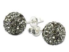 Shamballa STUD Earrings 10mm disco pave crystal ball