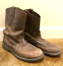 Dickies Men's Brown Leather Motorcycle Cowboy Boots Size 12