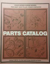 Troy-Bilt HORSE Roto-Tiller Parts Manual 32pg #34  s/n#640,000-up 4-Speed Garden