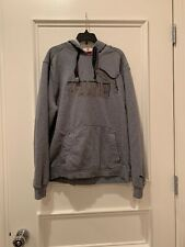 PUMA Gray Black Logo Men's Fleece Hoodie Men Sweat Basics Medium