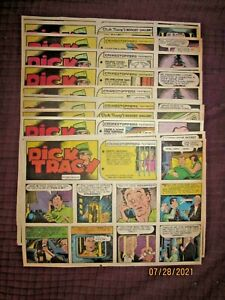 1983 -17 WEEKS DICK TRACY  COLORED SUNDAY NEWSPAPER COMIC STRIPS