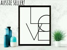 Love canvas A4 painting print art poster nursery kids baby home room engagement