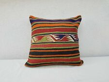 20''x20'' Boho Kilim Pillow Cover, 50x50cm Handmade Outdoor Garden Decor Cushion