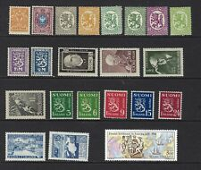 Finland, 22 Different Mh Stamps, Cv $27.60, Lot 11-77