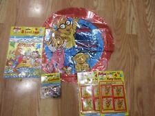 5pc Lot 1997 Unique Arthur Aardvark Birthday Party Goods Multi-color Nos