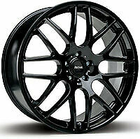 "NEW 18"" RIVA DTM ALLOY WHEELS IN BLACK 5X120 BMW F10 F11 F12 1F3 5 6 SERIES CSL"
