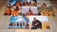 DANSE AVEC LES LOUPS ! k costner jeu 8 photos cinema lobby card western indien