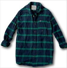 NWT Hollister by Abercrombie Mens Classic Plaid Flannel Shirt 100% Cotton