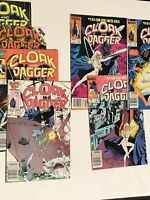 Cloak and Dagger (Marvel) Lot of 7 Comic 1 2 4 Limited Series 1 4 5 7 1985  1983