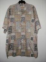 Men's TORI RICHARD 100% Cotton Lawn Short Sleeve Button Down Hawaiian Shirt 3XT