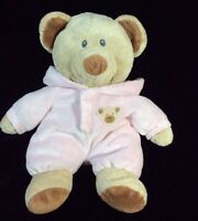 """Ty Pink Pluffies Bear PJs 2010 Non Removable Plush Soft Toy 10"""" Stuffed Pajamas"""