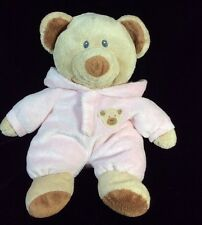 "Ty Pink Pluffies Bear PJs 2010 Non Removable Plush Soft Toy 10"" Stuffed Pajamas"