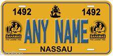 Bahamas 1492 Any Name Novelty Car Auto License Plate P02