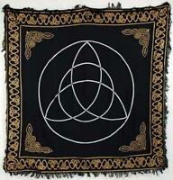 Celtic Triquetra Trinity & Knots Wicca Pagan 36x36 Altar Tarot Side Table Cloth