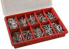 Handy pop rivet set 505 asst rivets in case for caravan motorhome repairs etc