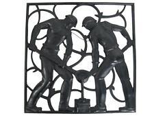 Kunstguss Eisenguss Relief GIESSER Entwurf Heinrich Moshage 30,5 x 30,5 cm