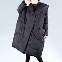 CA Womens Oversized Casual Big Pocket Hooded Long Padded Puffer Jacket Coat