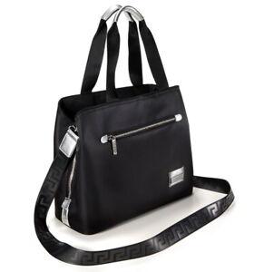 Versace Black & Silver Tote Bag / Shopper / Beach / Crossbody