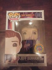FUNKO POP JEFF DUNHAM WITH PEANUT #03. AUTOGRAPHED. IN HAND. Purple ink