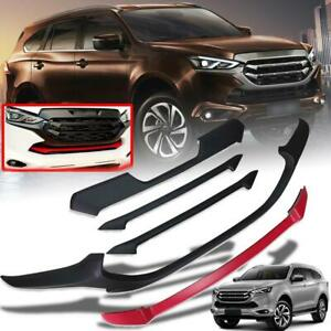 Front Cover Grille Matte Black Red Trim For All New Isuzu MU-X MUX LS 2021-2022