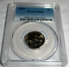 1925 5C  PCGS MS66  5 Cent Five Cents Coin Buffalo Head 💎