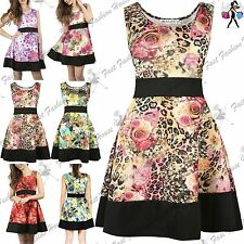 Unbranded Polyester Floral Skater Dresses for Women