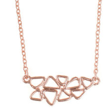Treaty Jewellery geometric rose gold necklace in gift pouch, mother's day gift
