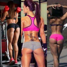 Womens Yoga Fitness Exercises Shorts Gym Workout Elastic Leggings Mini Hot Pants