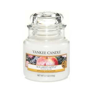 Yankee Candle Sugared Apple 104g Small Jar Scented Fragrance Candles RARE HTF