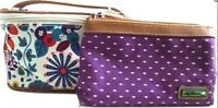 NWT LILY BLOOM KARMA BLOOM ABIGAIL TART N TWEET TWO PIECE COSMETIC CASE & POUCH