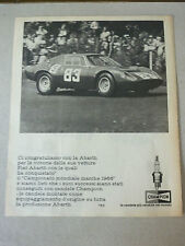 ADVERTISING PUBBLICITA' ABARTH - CHAMPION -- 1966