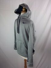 Men's Nike Therma-FIT Gray Hoodie L/S Pullover Front Pocket S Small